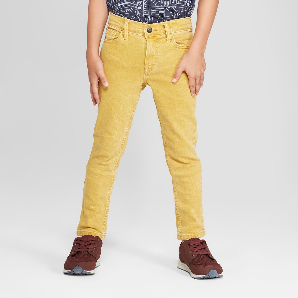 Boys' Skinny Fit Jeans - Cat & Jack Yellow 8