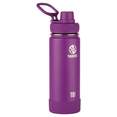 Takeya Actives 18oz Insulated Stainless Steel Water Bottle with Spout Lid - Violet