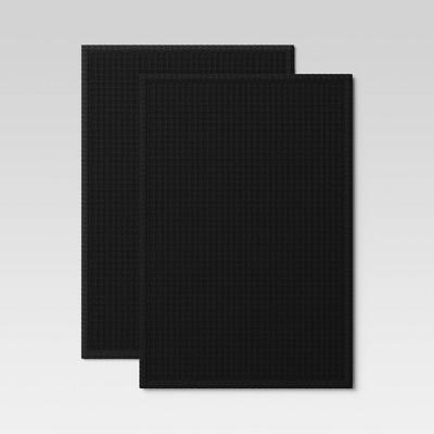 2pk Cotton Waffle Kitchen Towels Black - Threshold™