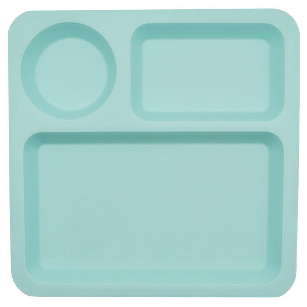 Big Kid's Square Divided Plate 10.5