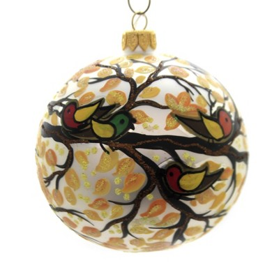 "Christina's World 4.0"" Leafy Trio Fall Ornament Birds  -  Tree Ornaments"