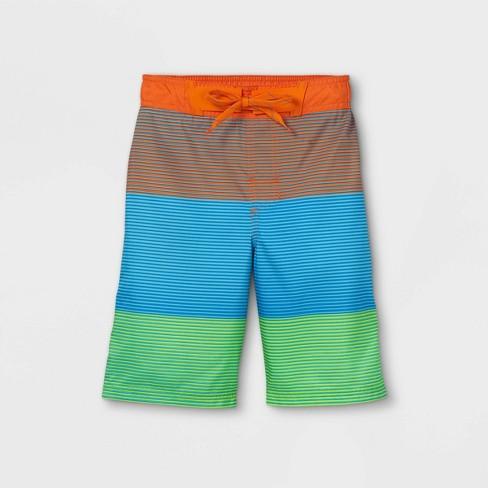 Boys' Striped Swim Trunks - Cat & Jack™ - image 1 of 2
