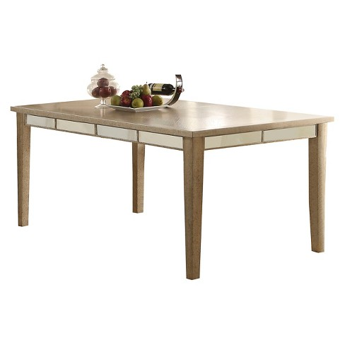 Voeville Dining Table - Antique Gold - Acme - image 1 of 2