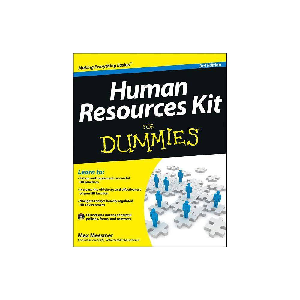 Human Resources Kit For Dummies For Dummies 3rd Edition By Max Messmer Mixed Media Product