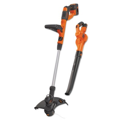 Black & Decker LCC340C 40V MAX Automatic Feed Spool Lithium-Ion 13 in. Cordless String Trimmer/Edger/ Sweeper Combo Kit (2 Ah)