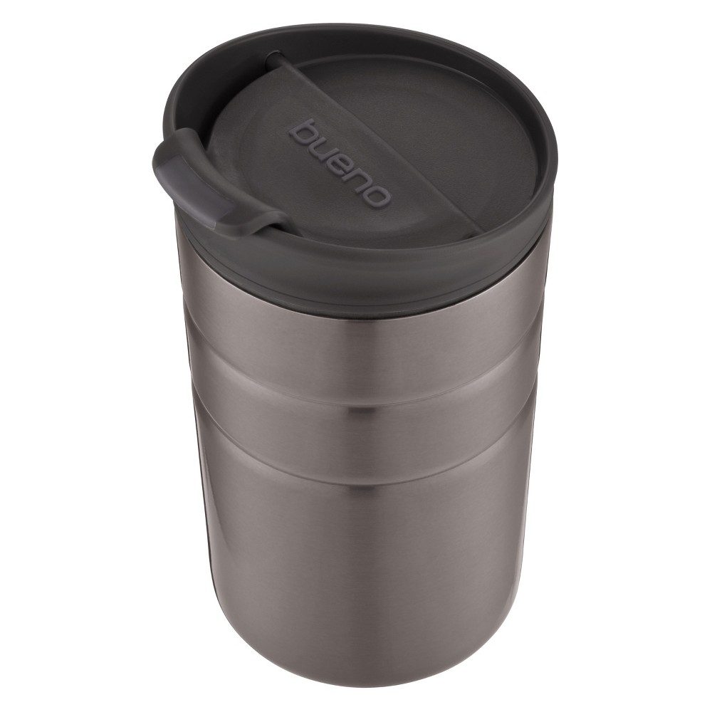 Image of Contigo 10oz Bueno Vacuum-Insulated Stainless Steel Travel Mug with Flip Lid Gray