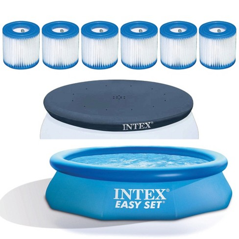 Filter Replacement (6 Pack) Bundled w/ Vinyl Pool Cover & Inflatable Kid Pool - image 1 of 4