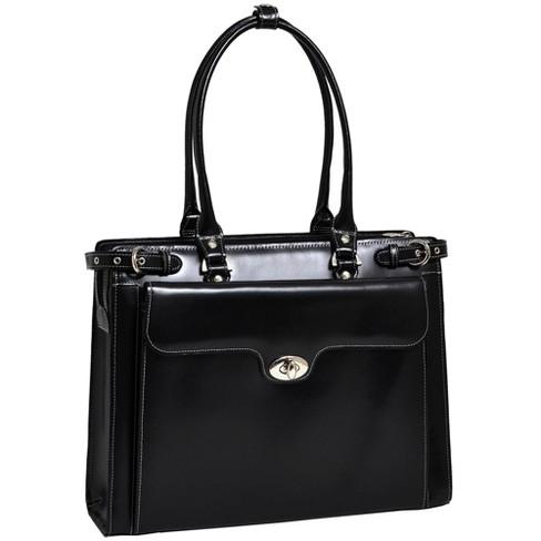 "McKlein Winnetka 15"" Leather Ladies' Laptop Handbag - Black - image 1 of 4"