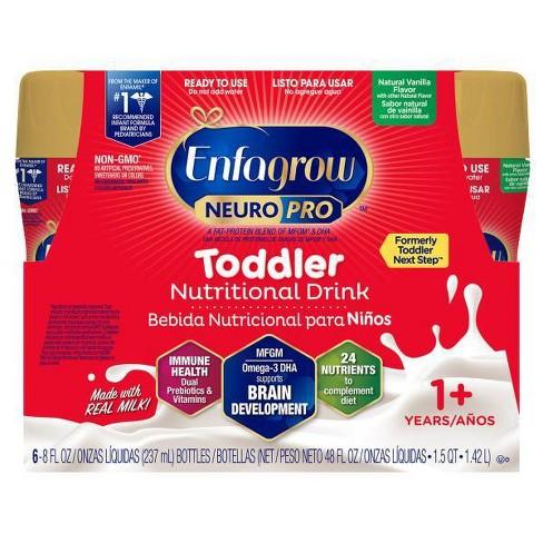 Enfagrow Toddler Next Step Vanilla RTD Bottles - 6ct/8 fl oz Each - image 1 of 4