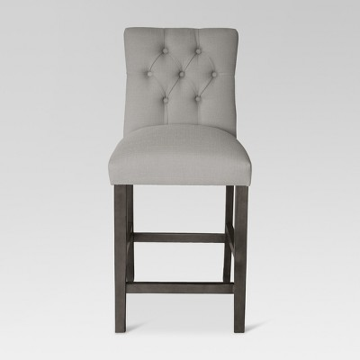 25  Brookline Tufted Counter Stool - Gray Wood Finish - Glacier - Threshold™