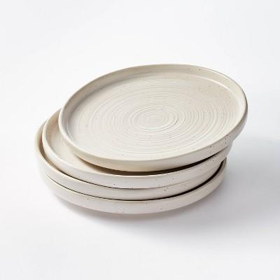"10.6"" 4pk Stoneware Glazed Dinner Plates Cream - Threshold™ designed with Studio McGee"