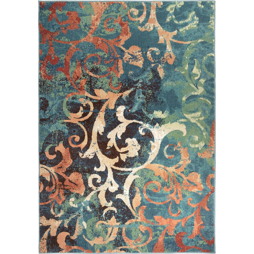Multicolor Abstract Woven Area Rug - (6'7