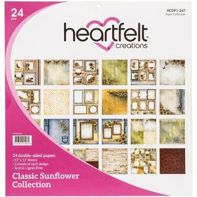 "Heartfelt Creations Double-Sided Paper Pad 12""X12"" 24/Pkg"