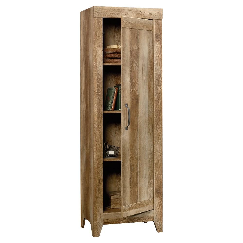 Adept Narrow Storage Cabinet - Craftsman Oak - Sauder, Wood