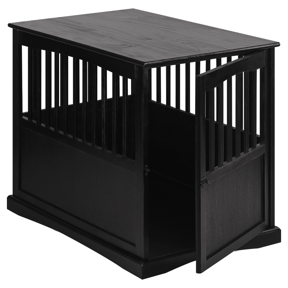 Image of Dogs Pet Crate End Table Large - Black - Flora Home