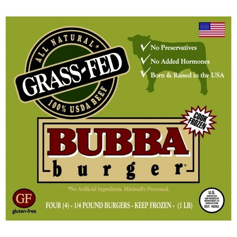 Bubba Burger Grass Fed Beef Burger 4oz Target