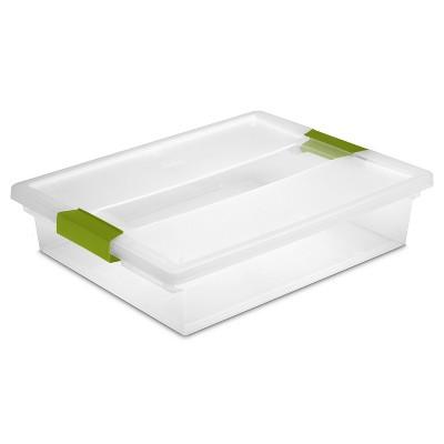 Sterilite Clip Storage Box Green