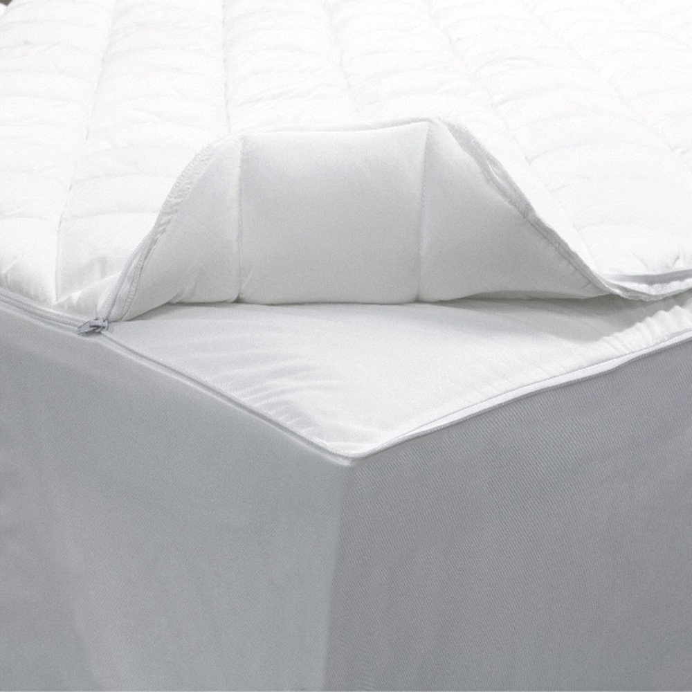 Image of 2-In-1 Zippered Mattress Protector (Full) White - AllerEase