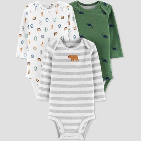 0437ef288cae Baby Boys  3pk Bear And Alphabet Print Bodysuit - Little Planet By ...