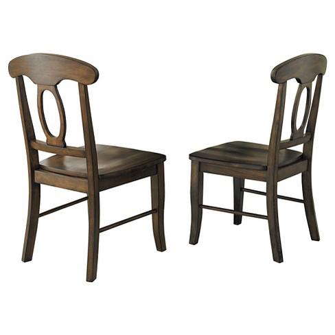 Set of 2 Morton Napoleon Back Dining Chair Walnut - Inspire Q - image 1 of 4