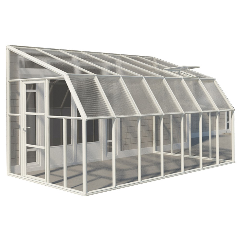 Image of 8'X14' Sun Room 2 Greenhouse - White - Palram