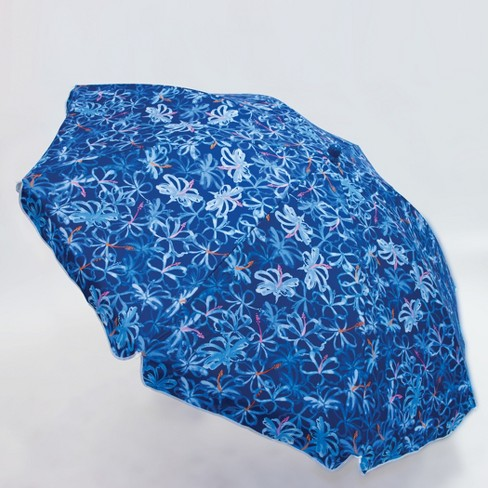 6'x6' Patio Beach Umbrella - Blue - Evergreen - image 1 of 4