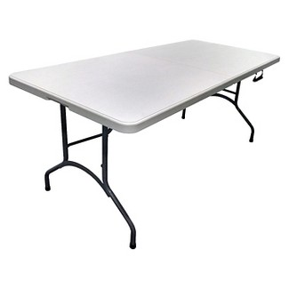 6 Folding Banquet Table Off-White - Plastic Dev Group