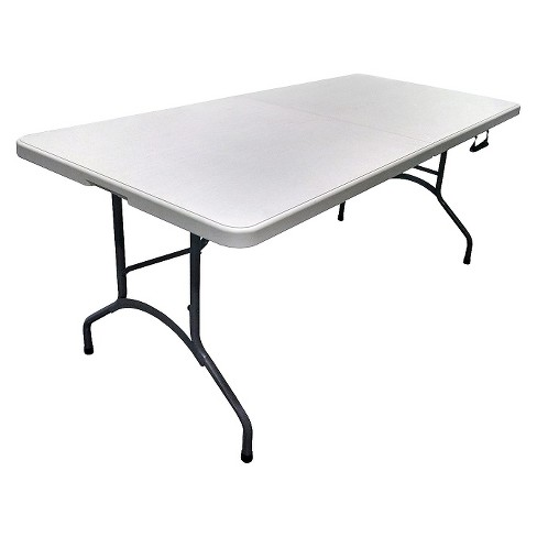 6' Folding Banquet Table Off-White - Plastic Dev Group - image 1 of 2