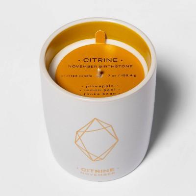 7oz Ceramic Jar Citrine Candle (November Birthstone)- Project 62™