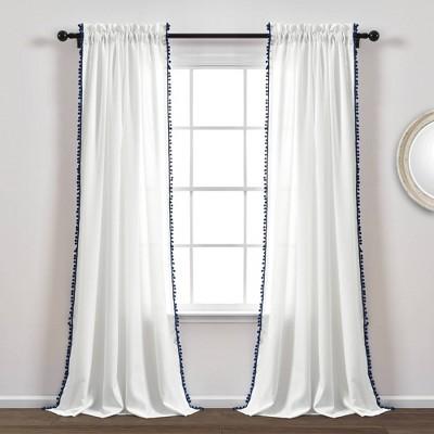Pom Pom Window Curtain Panel - Lush Décor