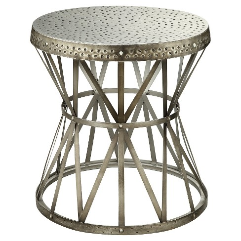 Hammered Metal End Table - Antique Nickel - Christopher Knight Home - image 1 of 1