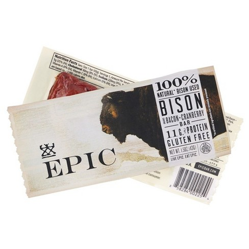 Epic Bison & Bacon Cranberry Nutrition Bar - 1.5oz - image 1 of 1