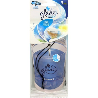Glade 3pk Car Paper Flame Candles Clean Linen