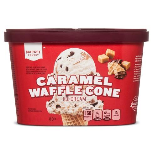Caramel Waffle Cone Ice Cream