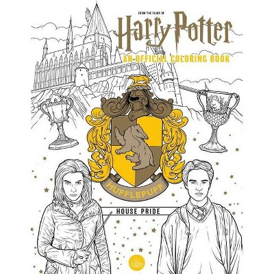 Harry Potter: Hufflepuff House Pride: The Official Coloring Book - by  Insight Editions (Paperback)