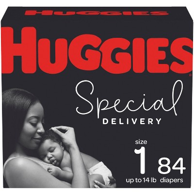Huggies Special Delivery Hypoallergenic Diapers Super Pack - Size 1 (84ct)