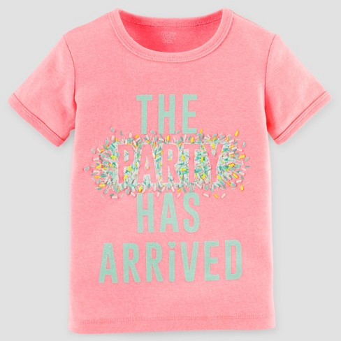 Baby Girls' Birthday T-Shirt - Just One You™ Made by Carter's® Pink 12M - image 1 of 1