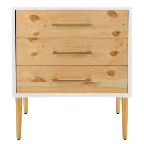 Vanda 3 Drawer Side Table White - Safavieh - image 1 of 4