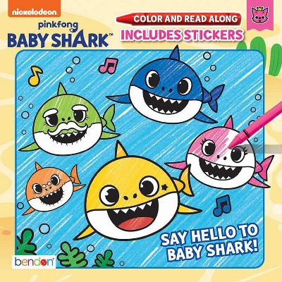 Baby Shark Color & Read Book