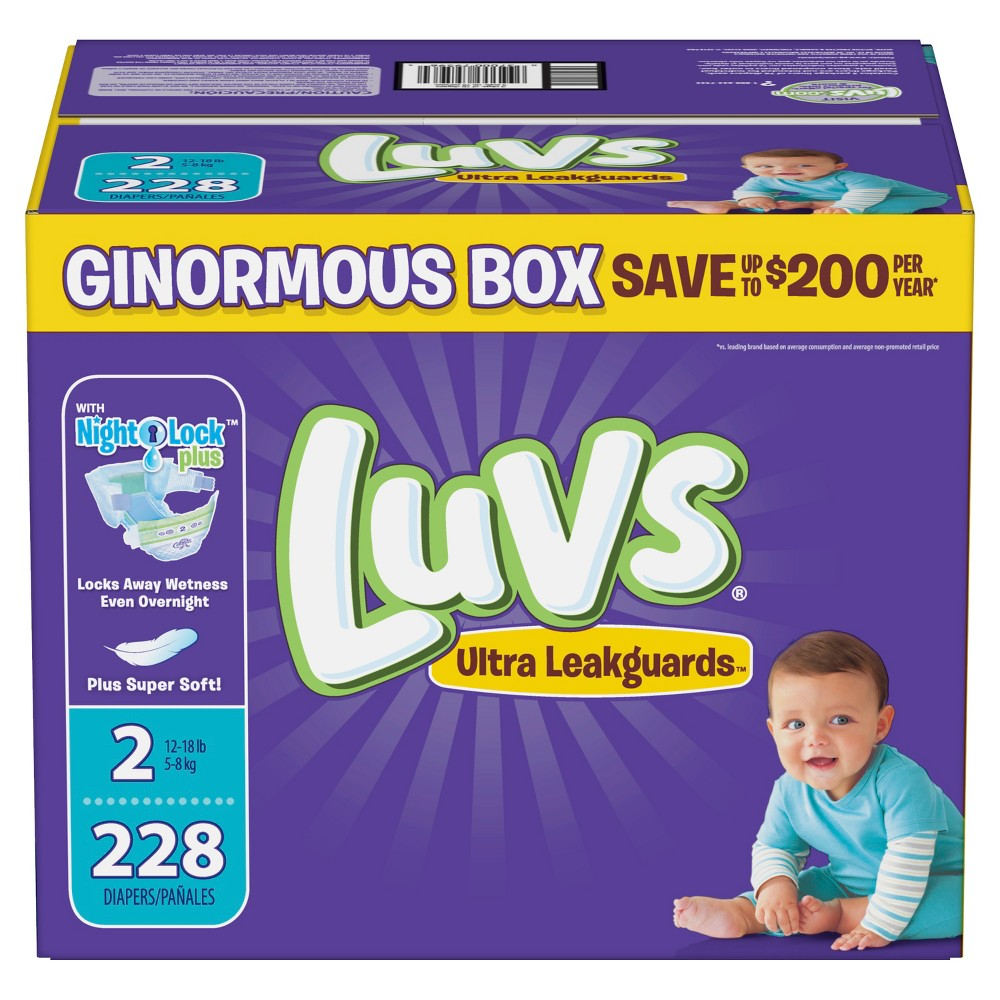 Luvs Disposable Diapers Ginormous Pack - Size 2 (228ct)