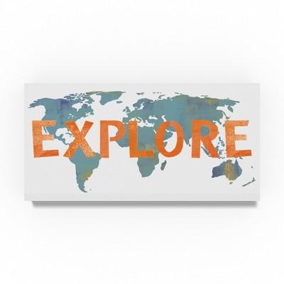 Summer Tali Hilty Explore Map Unframed Wall 16 x32  - Trademark Fine Art