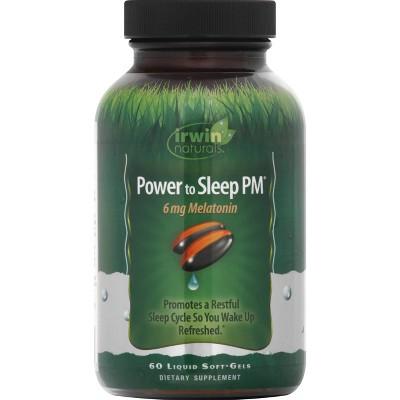 irwin naturals Power to Sleep PM Melatonin Dietary Supplement Liquid Softgels - 60ct