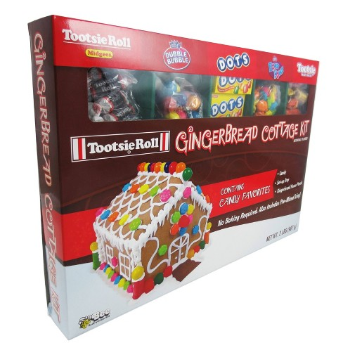 Tootsie Roll Holiday Gingerbread Cottage Kit - 28oz - image 1 of 1