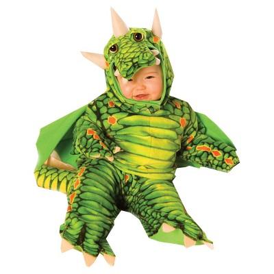 Baby Dragon Halloween Costume Green 6-12M