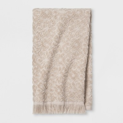 Soft Jacquard Accent Hand Towel Tan - Opalhouse™