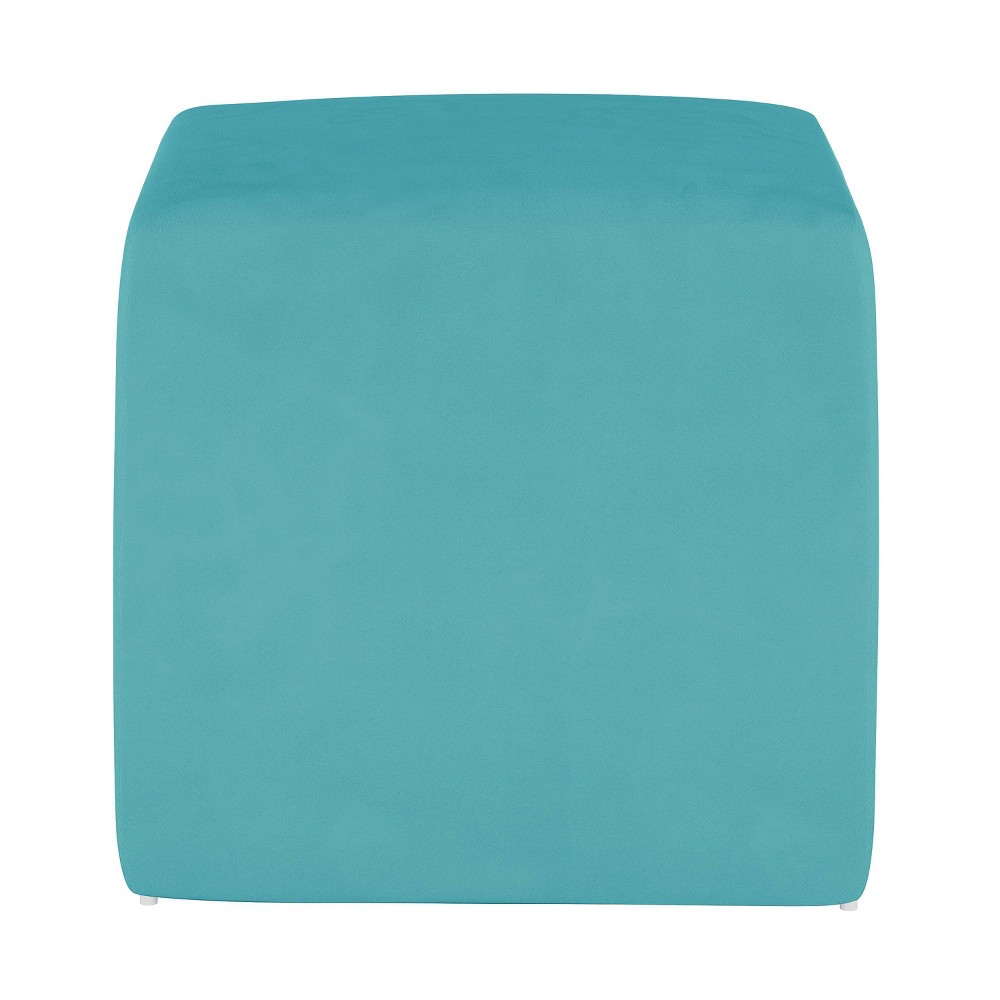 Image of Kids Cube Ottoman Premier Azure - Pillowfort