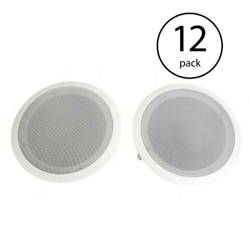 Pyle 8 Inch 2 Way In Wall Ceiling Home Speakers System Audio Stereo, 24 Speakers - image 1 of 4