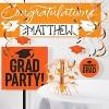 Orange Congratulations Graduation Party Banner - image 2 of 2