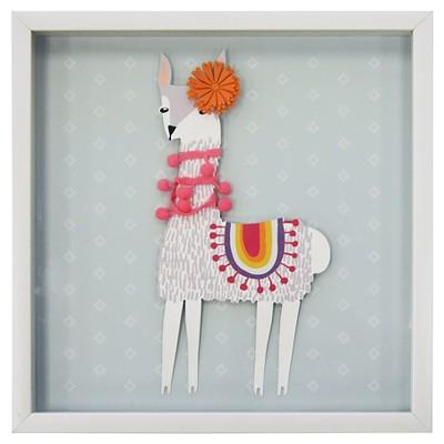 Llama Framed Art (15.25 x15.25 )- Pillowfort™