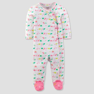 Baby Girls' Dinosaur Sleep N' Play - Just One You® made by carter's White/Pink 3M